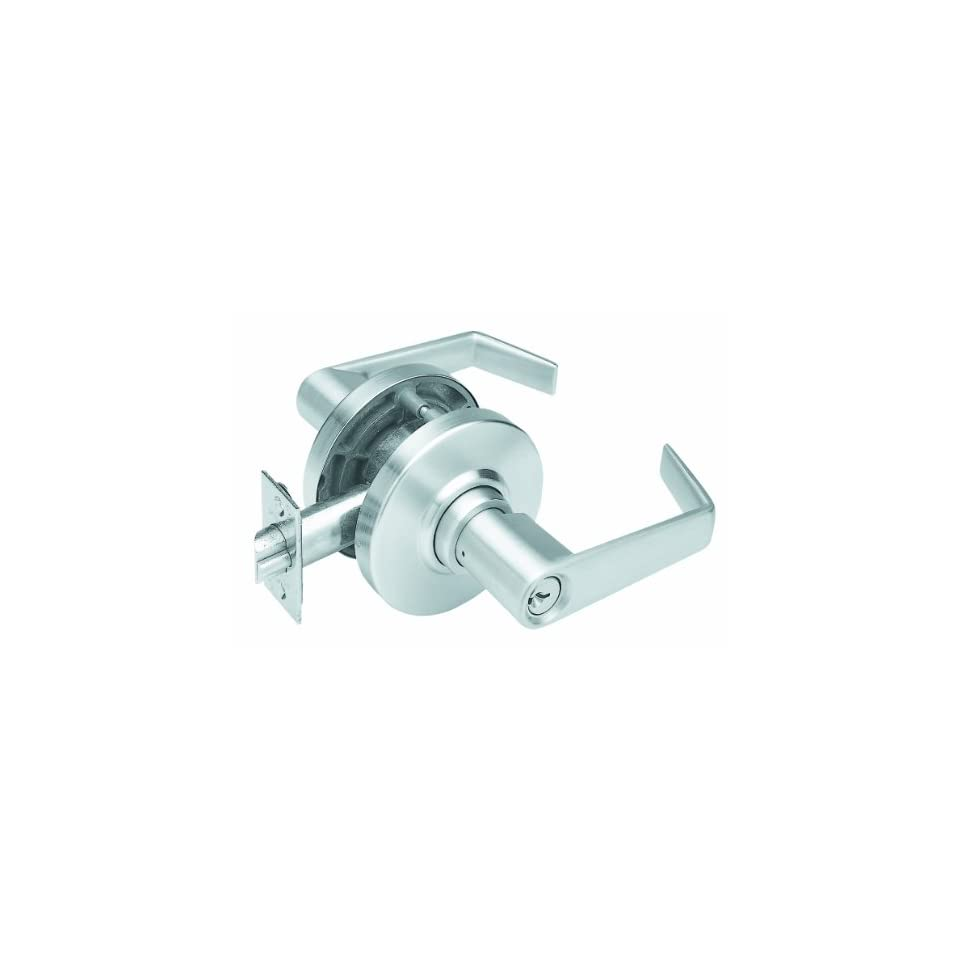 Schlage AL53PD SAT 626 C Keyway Series AL Grade 2 Cylindrical Lock, Entrance Function, C Keyway, Saturn Design, Satin Chrome Finish