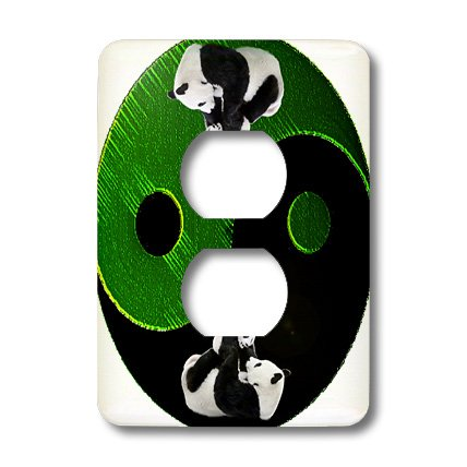 (3dRose lsp_38051_6 Panda Ying-Yang 2 Plug Outlet Cover Not applicble)