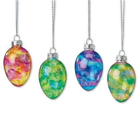 Lillian Vernon Stained Glass Easter Egg Ornaments - Set of 12; 3 of Each Color, Easter - Easter Glass Eggs