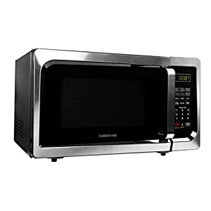 Farberware FMO09AHTBKC 900-Watt Microwave Oven, 0.9 Cu. Ft, Stainless Steel