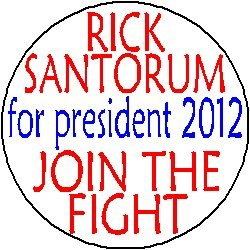"RICK SANTORUM for PRESIDENT 2012 - JOIN THE FIGHT Mini 1.25"" Magnet"