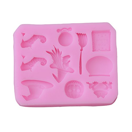 GUAngqi Halloween Theme Silicone Fondant Cake Mould Sugarcraft Baking -