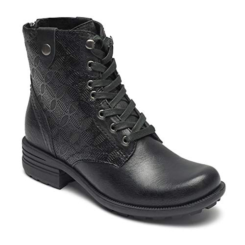 ollection Women's Cobb Hill Brunswick Lace Boot Black Leather 8.5 M US M (B) ()