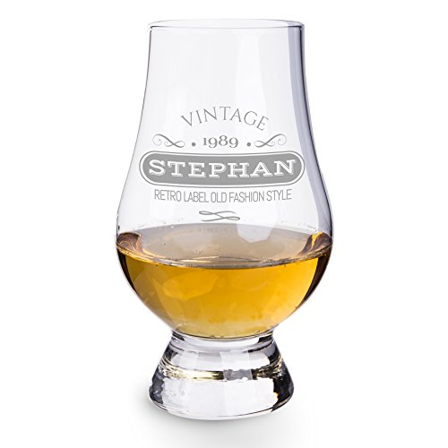 Personello® Glencairn Nosing Glas mit origineller Gravur, (personalisierbares) Whiskyglas mit vielen modernen Motiven und Namen graviert, Geschenk für Männer