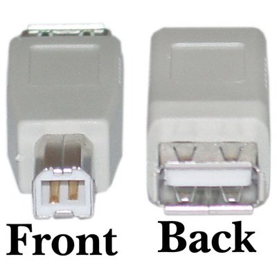 USB A to B Adapter, Type A Female to Type B Male ( 100 PACK ) BY NETCNA