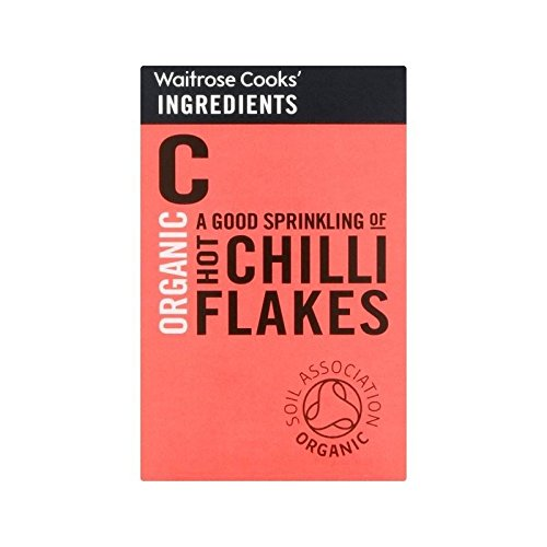 Cooks' Ingredients Organic Hot Chilli Flakes Waitrose 25g - Pack of 2 by Cooks' Ingredients