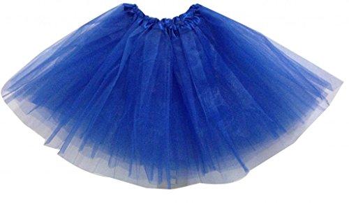 Adultos/Las mujeres Ballet tutú capa Organza encaje Mini falda azul real
