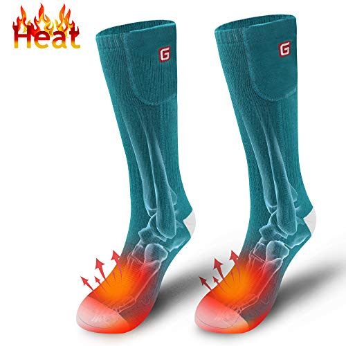 Autocastle Heated Socks Men Women Rechargeable Electric Battery Operated Heat Socks Kit,Sports Winter Warm Thermal Socks Outdoor Recreation Climbing Hiking Skiing Hunting Snowboarding Footwarmer ()