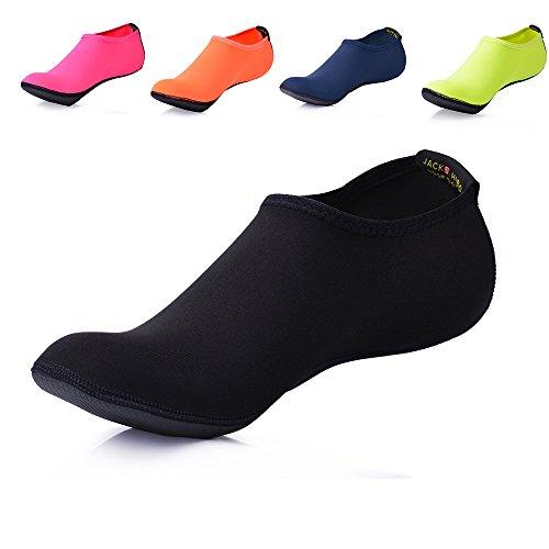 JACKSHIBO Men Women and Kids Quick-Dry Water Skin Shoes Aqua Socks for Water Sports Swim Surf Yoga Exercice Beach – DiZiSports Store