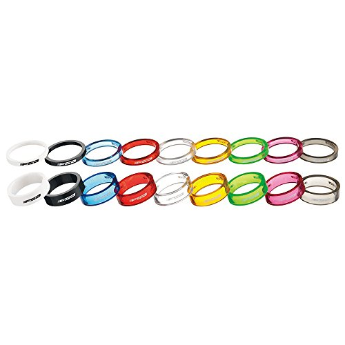 FSA - Separadores de Auriculares para Bicicleta (policarbonato, 1 1/8 Pulgadas x 10 mm, 10 Unidades), Color Rojo