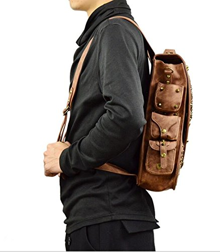 Jackdaine Men's Ladies Fashion Steampunk Outdoor Travel Backpack Backpack 4