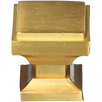 Southern Hills Satin Gold Square Cabinet Knobs Pack Of 5