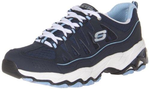 Skechers Sport Womens Verlanglijst Sneaker Marine / Lichtblauw