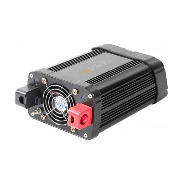 Technaxx KFZ Wechselrichter mit LC-Display 12V auf 230V - Auto Inverter mit 2X Schuko-Stecker und 2X USB-Port - Power…