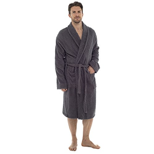 New Mens Tom Franks 100% Cotton Towelling Luxury Dressing Gown ...