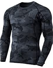 TSLA Men's Cool Dry Fit Long Sleeve Compression Shirts, Athletic Workout Shirt, Active Sports Base Layer T-Shirt