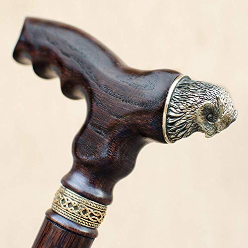 Fancy Walking Cane for Women Unique OWL Wooden Walking Stick for Lady Fashionable Hand Carved Ladies Canes Custom Walking Sticks