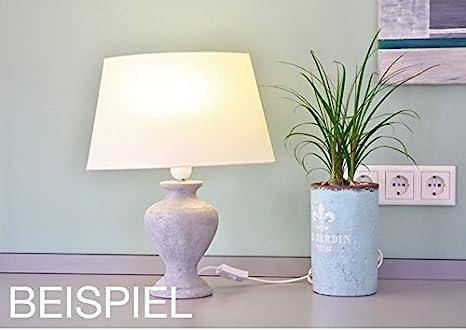 Beton Lampe DIY - Set aus Lampenfuß, E14-Fassung und \