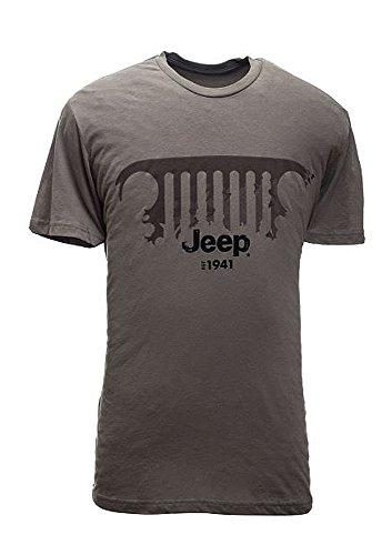Men's Jeep Grille Sueded Crew T-Shirt (XL)