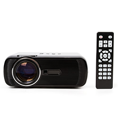 Support 1080P Home Theater Projector,UBaymax Portable Mini LCD Video Best  Projector for Home Theater Gaming Business Education,AV VGA USB SD HDMI TV