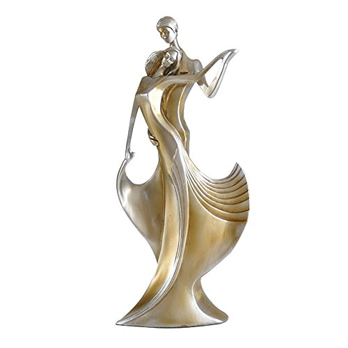 Interior Resin Dancing Sculpture Stand Homme Decor Couple Decorations Living Room Crafts Bedroom Statue Design Wedding Art Gifts Present Souvenir 1 pc【1797】 (COPPER)