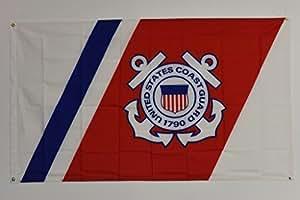 USCG Guardacostas Semper Paratus 3'x5' casa Banner ojales doble costura resistente a la decoloración Premium calidad