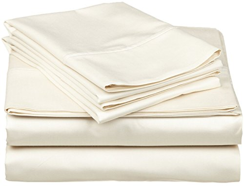 The Authentic Hotel Collection True Luxury 100% Egyptian Cotton - Genuine 1000 Thread Count Fits Mattress Upto 24'' Deep Pocket Queen 4 Piece Sheet Set Ivory (Hotel Collection Sheet Queen compare prices)
