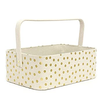 best website 00aca 95450 Amazon.com   Taylor Madison Designs Gold Dots Diaper Caddy   Baby