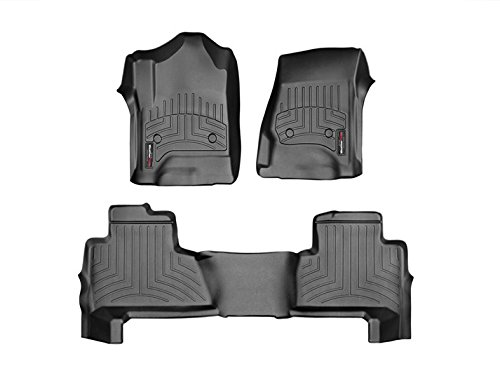 2015-2016 Chevrolet Tahoe (First Row & Second Row Bucket Seat Only) Weathertech Custom Fit Floor Liners - Full Set - 1st and 2nd (Black Second Seat Floor Liners)