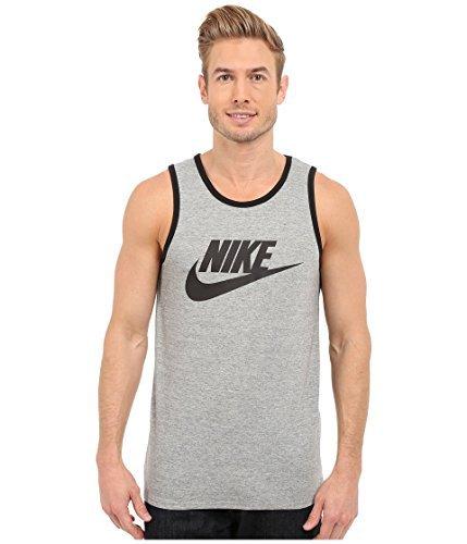 Nike Mens Ace Logo Tank Top Dark Grey/Black 624314-063 Size Large