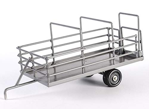 - Little Buster Toys Cattle Trailer - Heavy Duty Metal Cattle Trailer in Gray, 1/16th Scale
