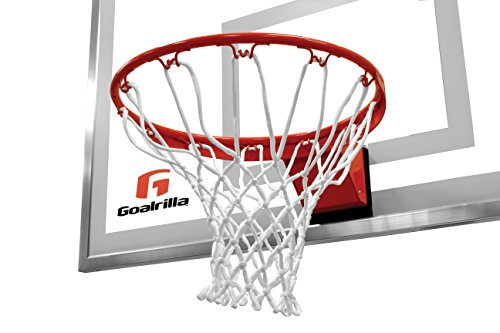 Goalrilla Heavy-Weight Pro-Style Breakaway Basketball Flex Rim with All-Weather Nylon Net and Powder-Coated Rim and Stainless Steel