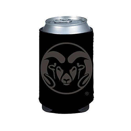Colorado State Rams 2-Pack BLACK TONAL CAN Koozie Neoprene Holder University
