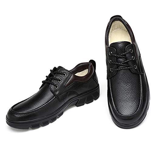 Warm Hombres tamaño de la la Manera de EU Zapatos Suave la Oxford de Caliente Opcional Terciopelo Manera Informal de Moda Casual 37 Marrón de Black Color los Jusheng Oxford OT8Sqwnp8