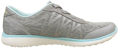 Running Gris De grey Chaussures showdown blue Microburst Skechers Femme qxwIfvpp