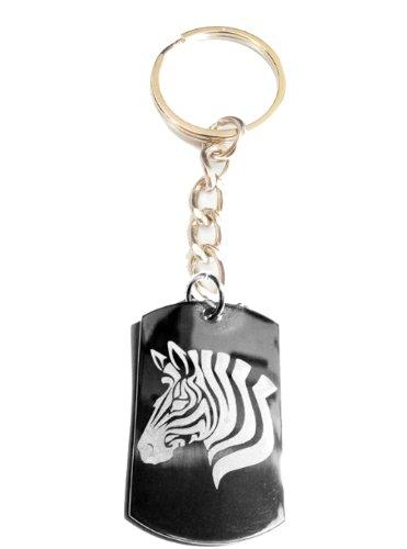 Zebra Wall Metal (Zebra Horse Animal Logo Symbols - Metal Ring Key Chain Keychain)