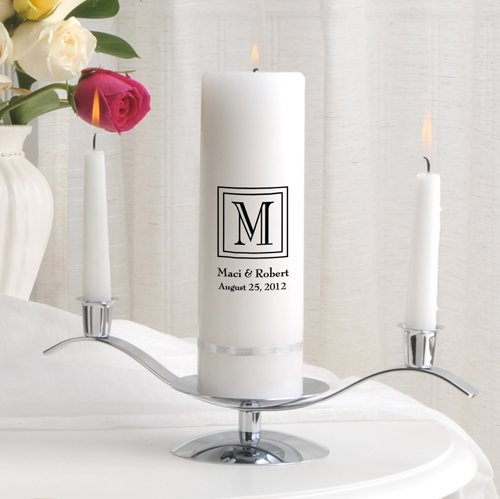 Personalized Unity Wedding Candle w/Stand- Classic