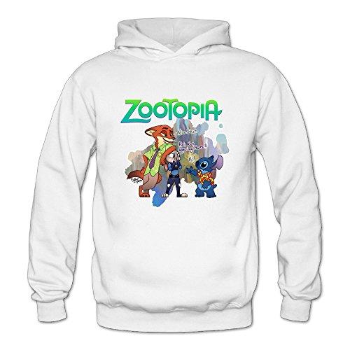 (Zootopia Women's Long Sleeve T Shirts White US Size)