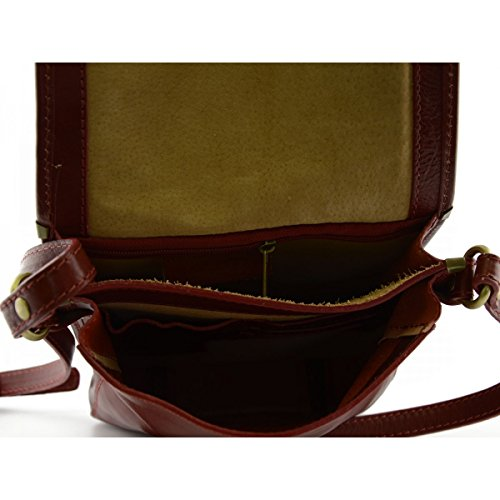 Borsello Uomo In Pelle Colore Rosso - Pelletteria Toscana Made In Italy - Borsa Uomo Del Envío Libre De Italia g1xNz4