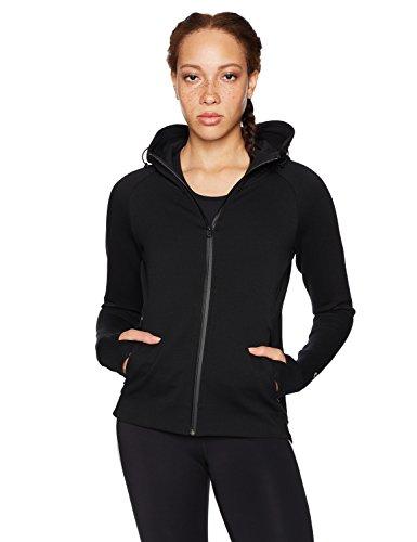 Core 10 Women's Motion Tech Fleece Full-Zip Hoodie, Black, Medium (Day Zip Hoodie)