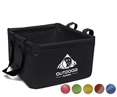 Outdoor Panda: Outdoor Faltschüssel 15 oder 20 Liter - rund oder eckig |Faltbare Camping Waschschüssel aus langlebigem…