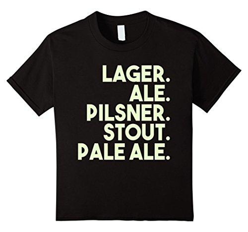 Pilsner Lager (Kids Craft Beer T-Shirt | Beer Shirt | Lager Ale Pilsner Stout 12 Black)