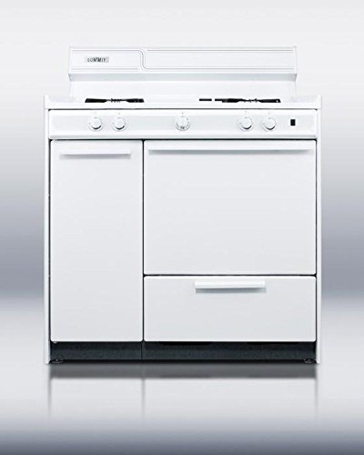 Summit WNM430P Kitchen Cooking Range, White by Summit