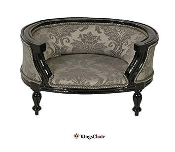 Barroco Muebles barroco cama para perros Negro/Plata Estampado: Amazon.es: Hogar