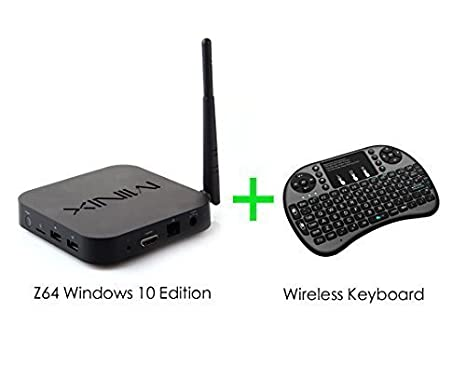 MINIX NEO Z64 Windows 10 Fanless Mini PC Smart TV Box PU 64 Bit 2GB Ram  32GB eMMc Rom Bluetooth 4 0 Full HD 1080P Streaming Media Player (UK Plug)  +
