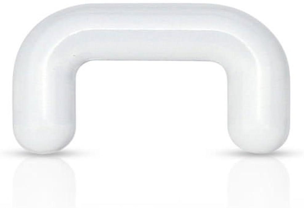 Amazon Com Bioflex Septum Nose Ring Retainer Clear 16g Jewelry