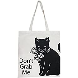 """Don't Grab Me"" Anti-Trump Canvas Tote Bag, Perfect for Shopping, Laptop, School Books"
