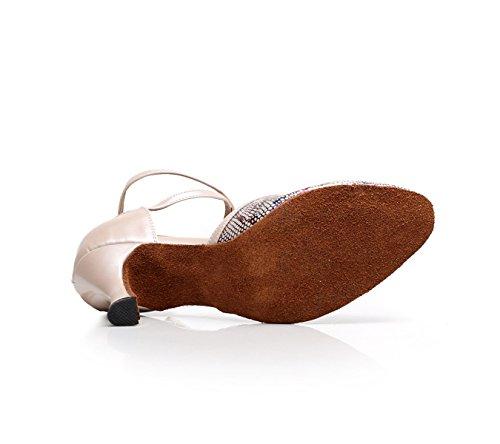 5 Pour Femme Chacha Latine Beige7 Talons Chaussures Talon Modern Samba De Sandales Our41 5cm Salsa fr6 Tango Jshoe Eu40 Jazz Danse 4cI1Ucq