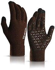 TRENDOUX Winter Gloves Men Women - Anti Slip Warm Lining Knit Touch Screen Glove