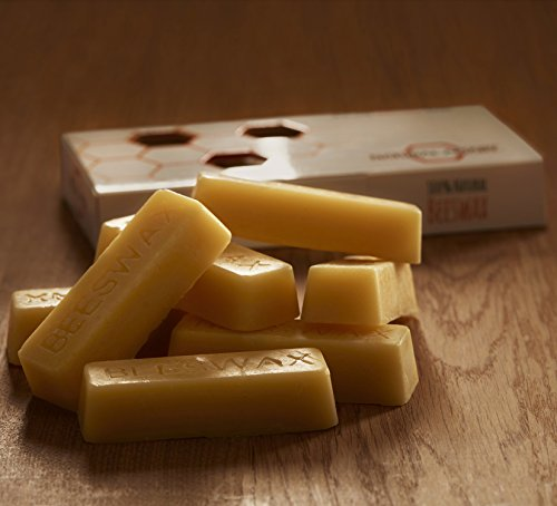 NATURAL APIARY - 100% General Use Beeswax Bars - 6 x 1oz Bars - DIY Projects, Candle Making, Furniture Polish, (Project Wax)